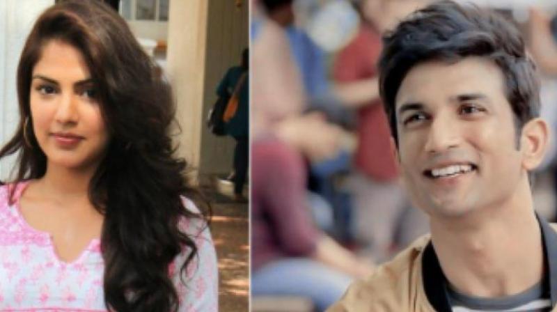 Rhea Chakraborty and Sushant Singh Rajput