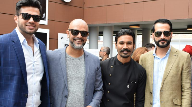 Gulzar Inder Chahal with Dhanush