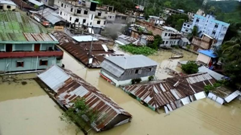 The flood situation in Assam worsened