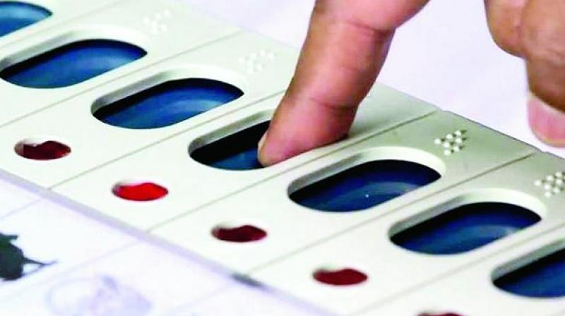 Persons had posted photos of casting vote on EVMs