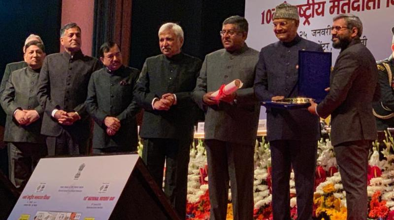 CEO Dr. S. Karuna Raju receives coveted award from President of India