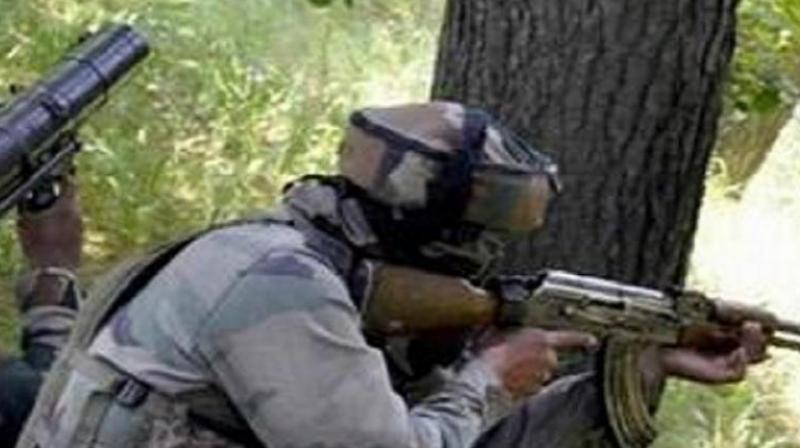 Militant, soldier killed