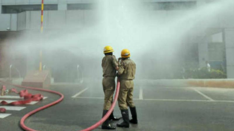 Fire at an LED manufacturing unit in Delhi