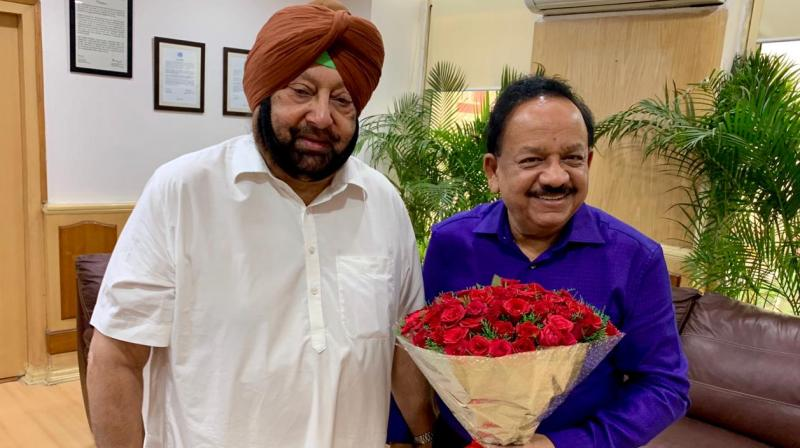 Captain Amarinder Singh and Dr Harsh Vardhan