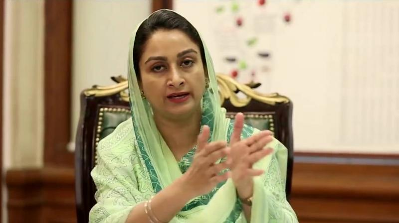 Union Food Processing Industries minister Harsimrat Kaur Badal