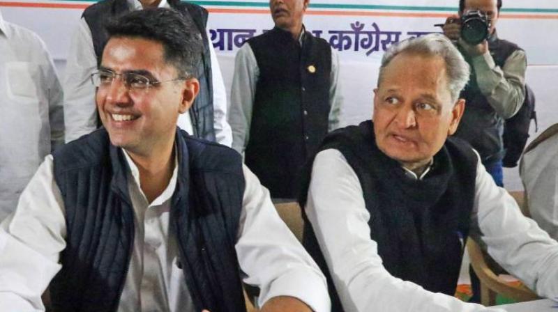 Sachin Pilot and Ashok Gehlot