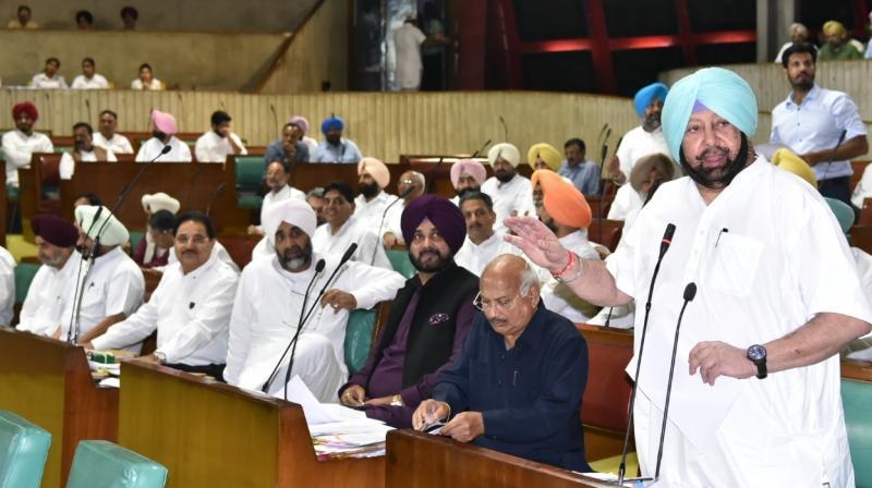 Capt Amarinder Singh at Punjab Vidhan Sabha