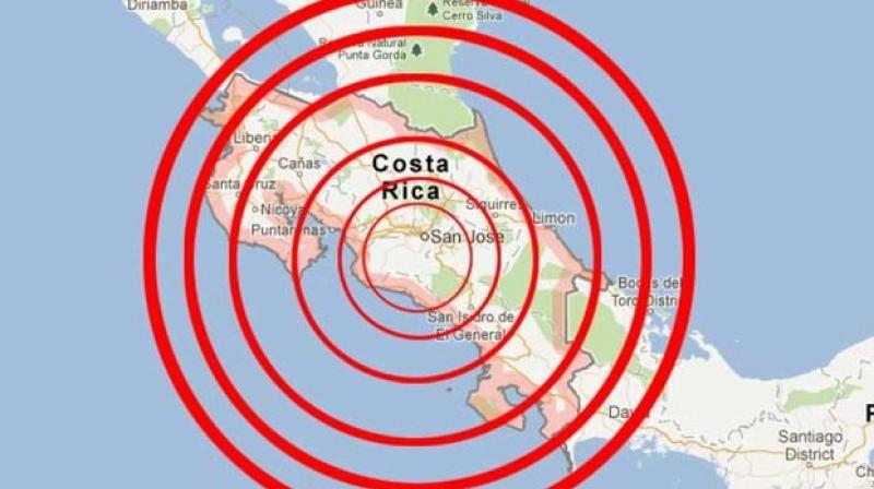 A strong earthquake shook southern Costa Rica