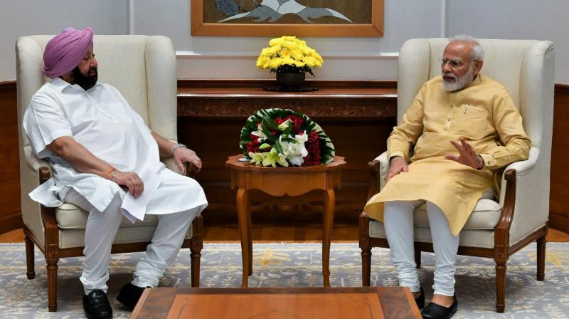 Captain Amarinder with PM Modi