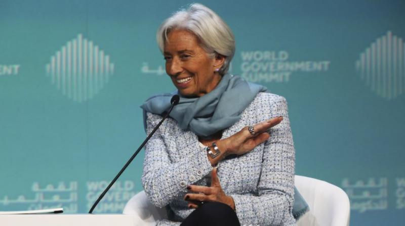 International Monetary Fund Managing Director Christine Lagarde speaks at the World Government Summit in Dubai, United Arab Emirates