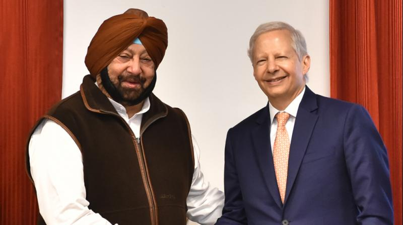 Punjab Chief Minister Captain Amarinder Singh with US Ambassador