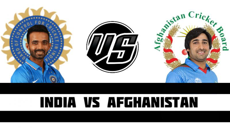 India were 158-0 at lunch against Afghanistan