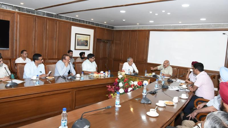 Health Minister Held A Meeting With Milk Plants Association