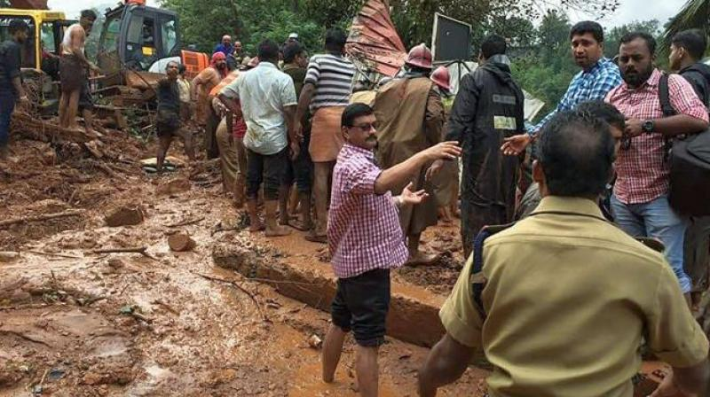 Heavy rains pounding Kerala triggered a series of landslides
