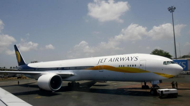 Shares of Jet Airways today plunged 14 per cent