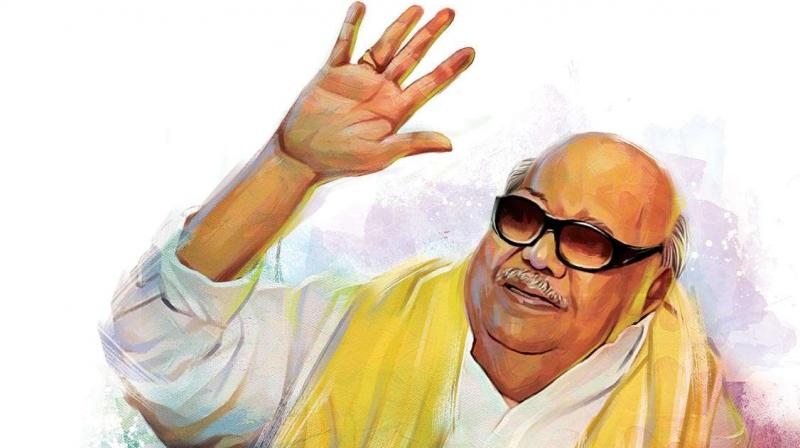 DMK paid rich tributes today to its departed President M Karunanidhi