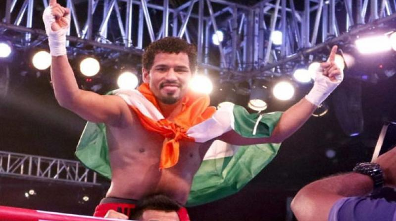 Neeraj Goyat wins first bout after getting new promoters