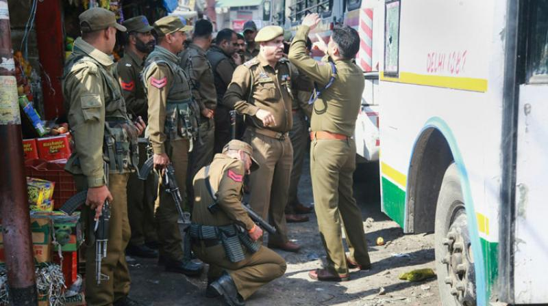 Jammu bus stand was attacked this morning