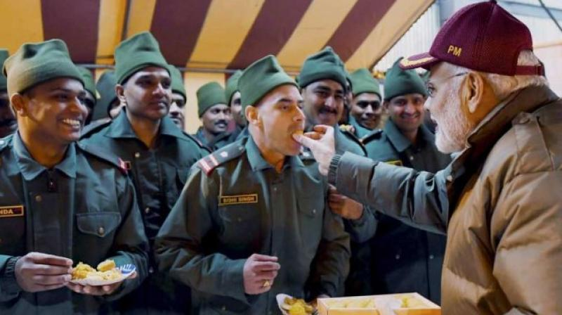 PM celebrates Diwali with soldiers