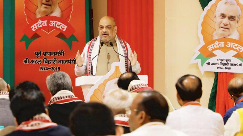 The party would win in the 2019 Lok Sabha polls with a mandate bigger than 2014: Shah