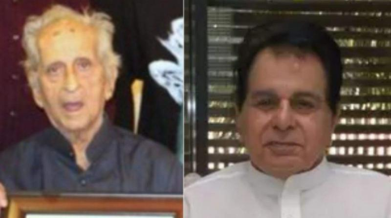 Dilip Kumar and Aslam Khan