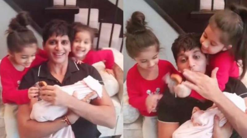 Karanvir Bohra, Teejay Sidhu welcome their third daughter