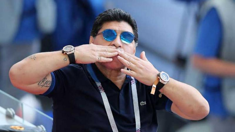 Diego Maradona has been hired to coach Mexican second-division