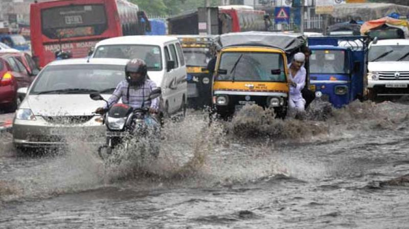Heavy rains lashed parts of the national capital Friday