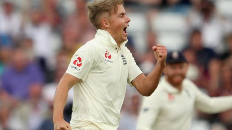 Rookie England pacer Sam Curran
