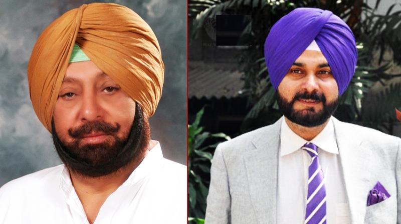 Captain Amarinder Singh and Navjot Singh Sidhu