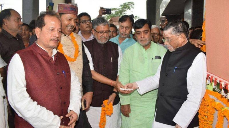 Sushil Kumar Modi thanked the Union minister for inaugurating the ESIC hospital