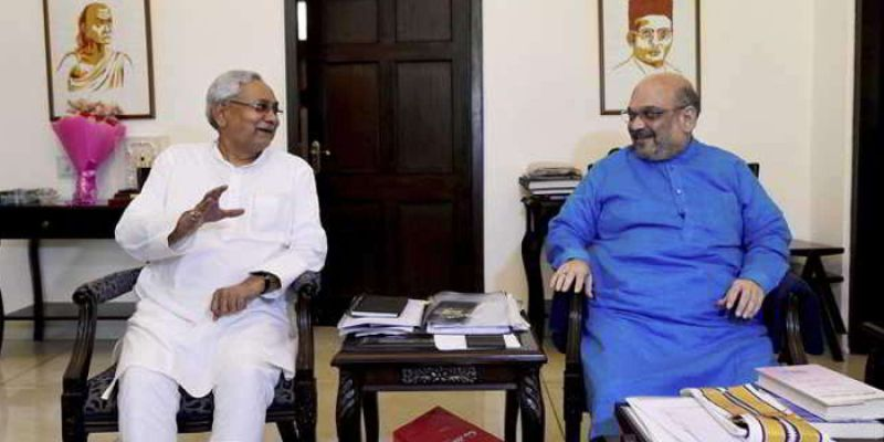 Amit Shah today had a brief meeting with Bihar Chief Minister Nitish Kumar