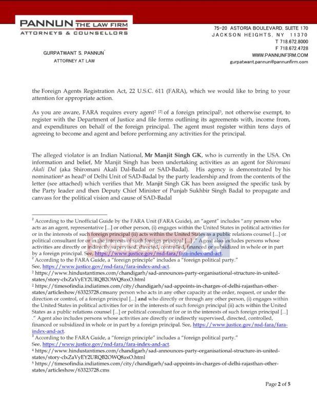 FARA Violation complaint page No-2