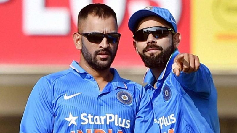 Dhoni is happy that Kohli is taking the team forward