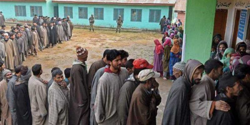 Polling is taking place in three municipal corporation wards