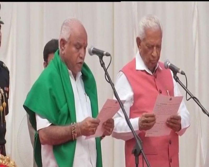 BJP's Yeddyurappa with Governor Vajubhai Vala