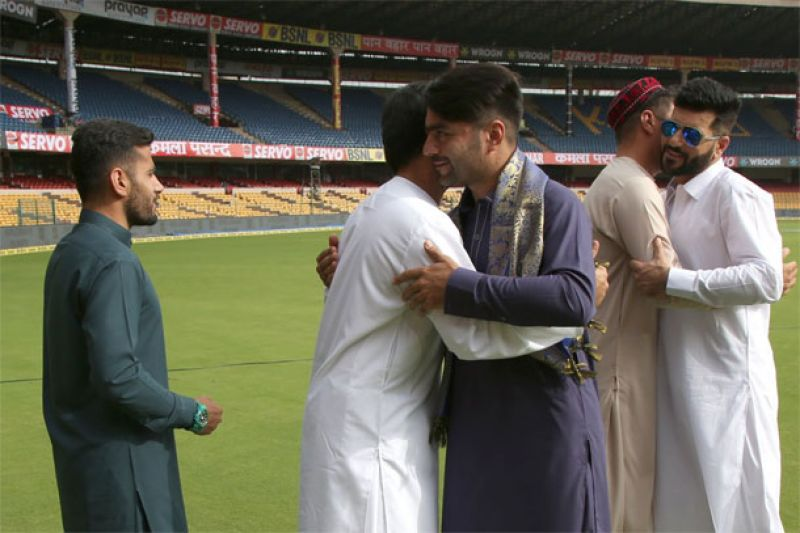 Afghanistan cricketers celebrate Eid-Ul-Fitr