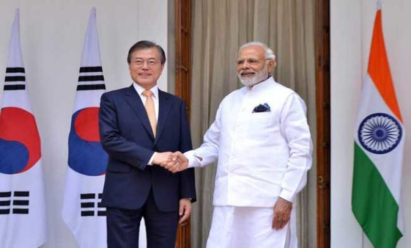 South Korean President Moon Jae-in with PM Modi