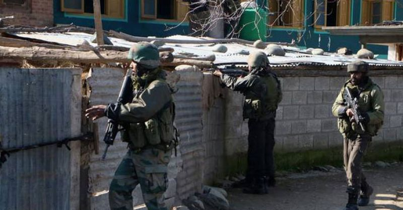 Security forces retaliated, leading to a brief exchange of fire