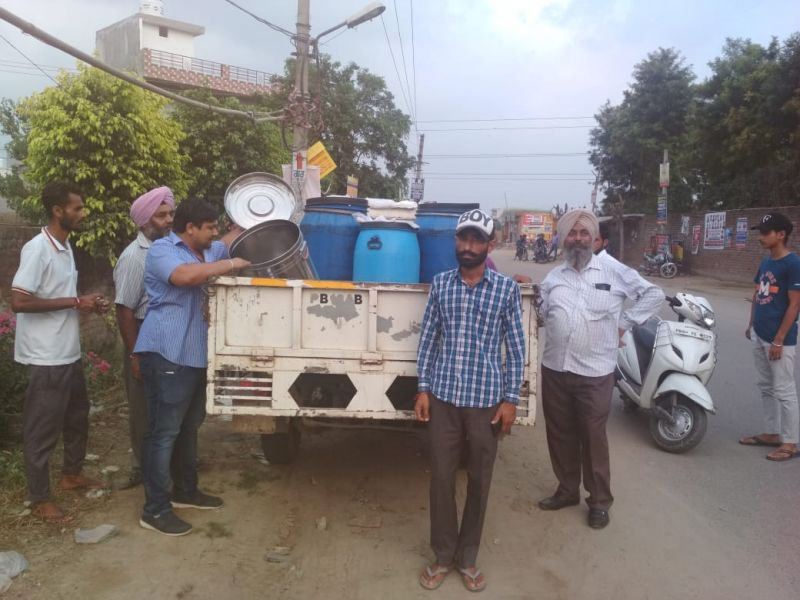Milk carrying vehicles were intercepted early in the morning at about 6:00 am