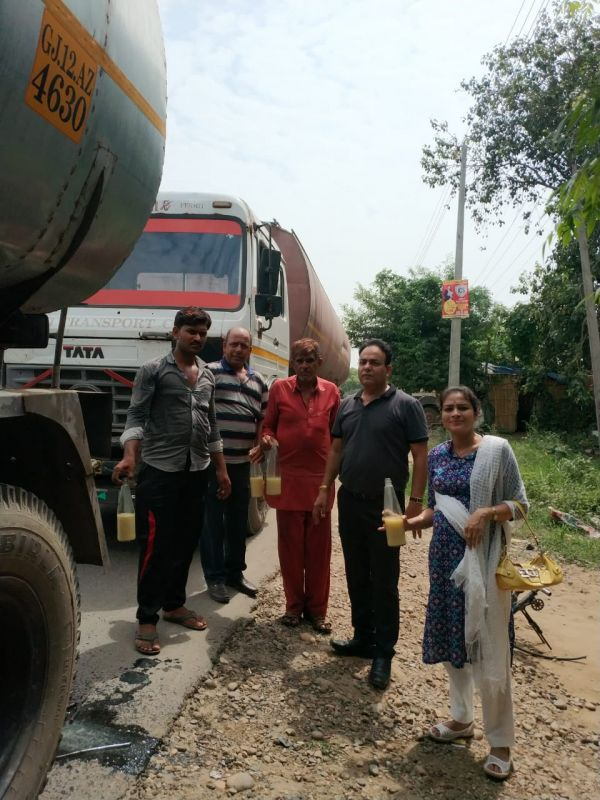 nailing two tankers carrying suspected refined palm oil