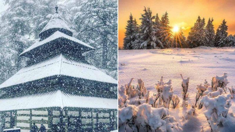 Kufri, Dalhousie and Manali, which also witnessed snowfall