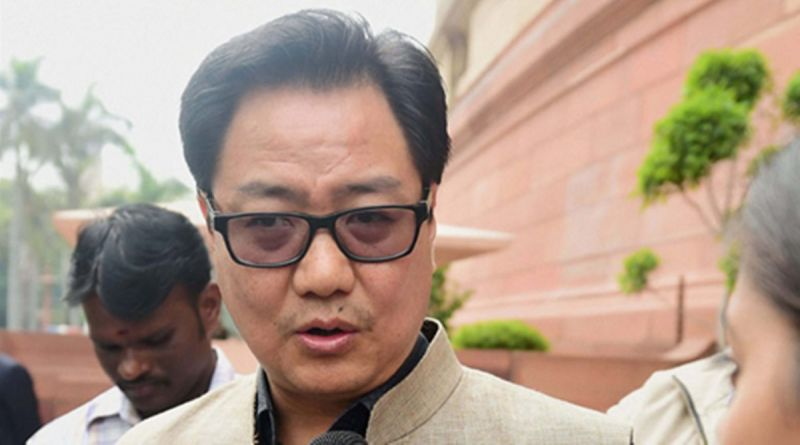 Minister of State for Home Affairs Kiren Rijiju