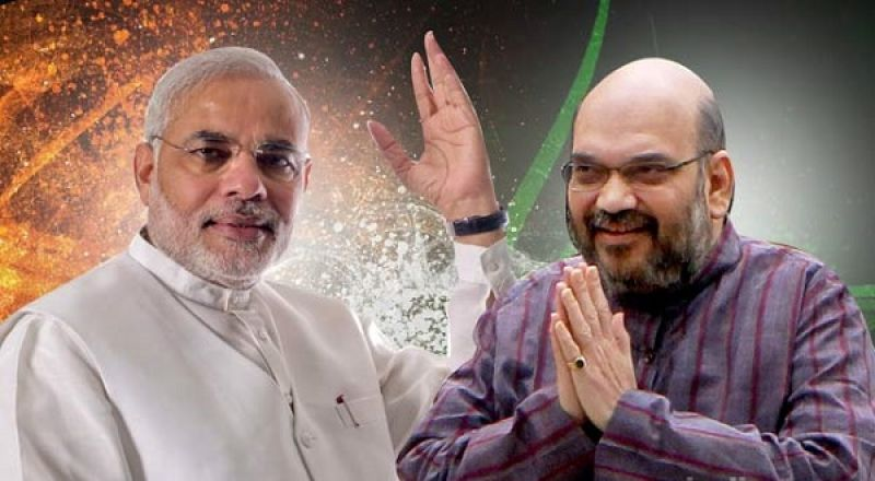 Narendra Modi and BJP chief Amit Shah