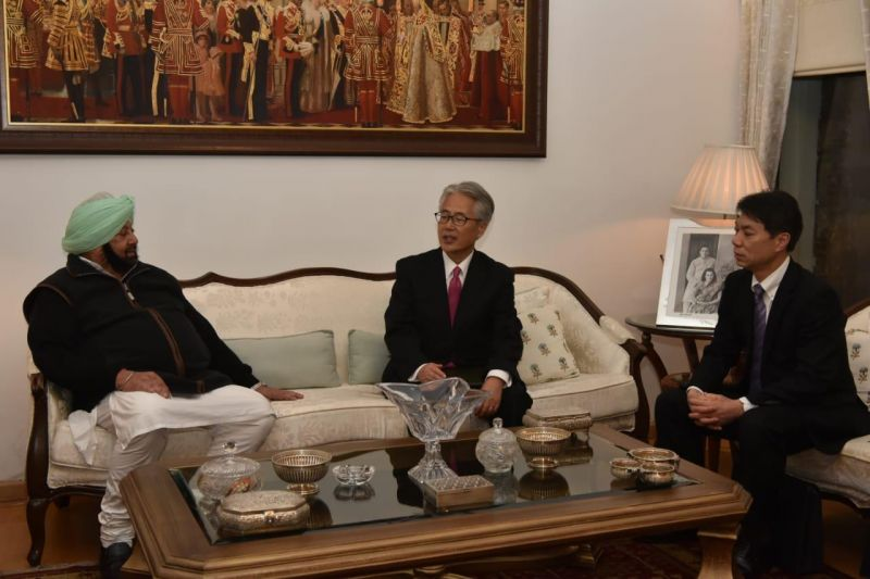 Japanese ambassador meeting with Punjab Chief Minister