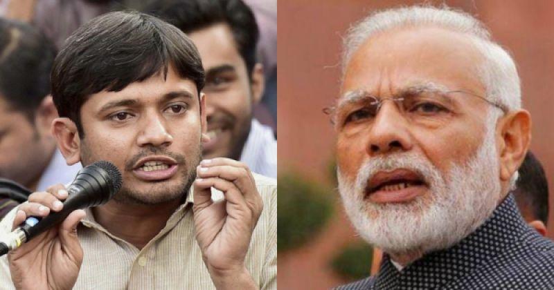 Kanhaiya Kumar and Narendra Modi