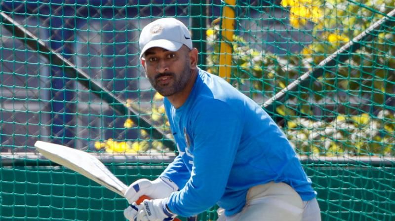 MS Dhoni has been practicing