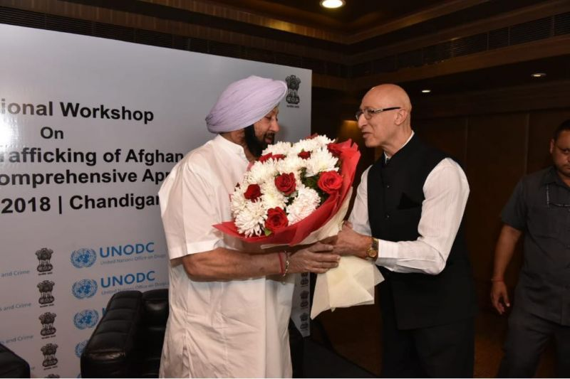 Captain Amarinder Singh called for team work to battle the menace