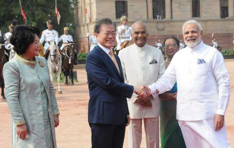 PM Narendra Modi holds talks with South Korean Prez