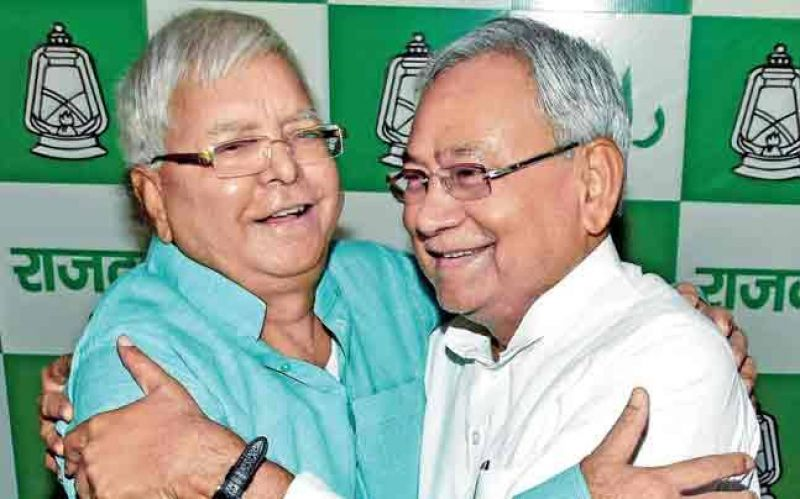 Nitish Kumar and Lalu Prasad Yadav